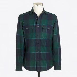 J.Crew Factory men's Wool CPO shirt-jacket, Large